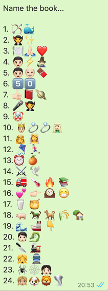 Name the book emoji quiz
